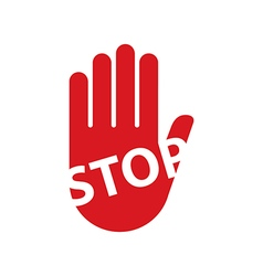 Hand sign stop vector image vector image