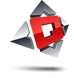 Q 3d letter vector image