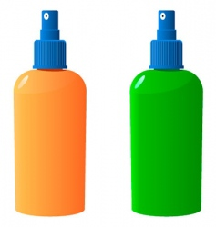 sun protection bottle vector image vector image