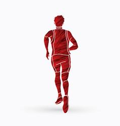 Athlete runner a man runner running vector
