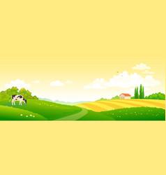 autumn farm scene vector image