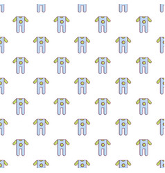 Baby boy clothes pattern seamless vector