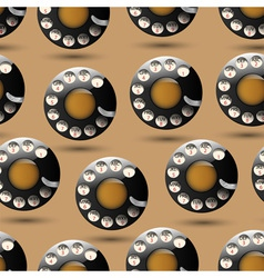 Background with disc dials vector image