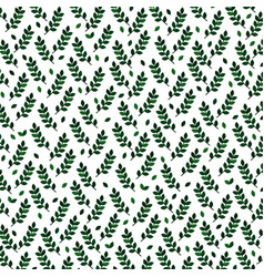 background with green branches vector image