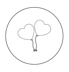 baloons icon in outline style isolated on white vector image