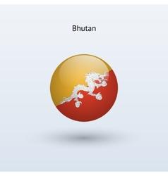 Bhutan round flag vector