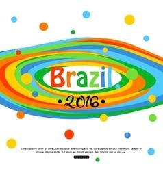 Brazil travel background for tourist banner vector