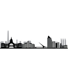 buenos aires city skyline vector image