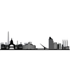 Buenos aires city skyline vector
