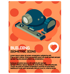 building color isometric poster vector image
