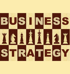 business strategy banner in wooden inlay design vector image