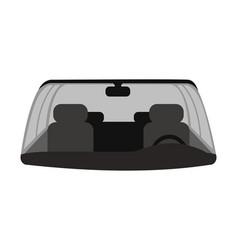 Car windshield flat vector