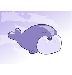 cartoon seal icon vector image