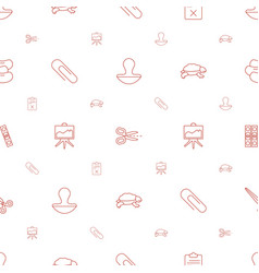 Clip icons pattern seamless white background vector