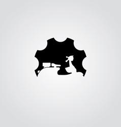 cog setting service logo art theme vector image