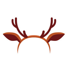 Colorful cartoon reindeer antler hat vector
