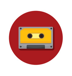 compact cassette classic icon graphic vector image