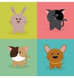 Cute Cartoon Animals vector image vector image