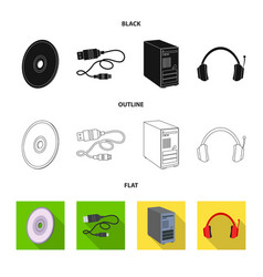 design of laptop and device icon vector image