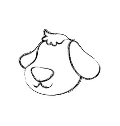 Dog cartoon drawing head faceless vector