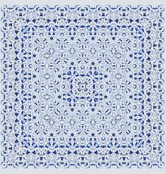 Elegant square light blue arabic pattern vector