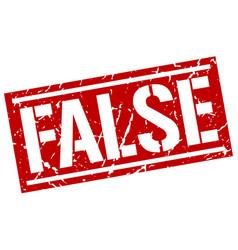 False square grunge stamp vector