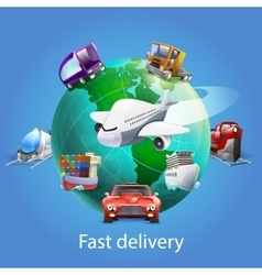 Fast Delivery Cartoon Concept vector image