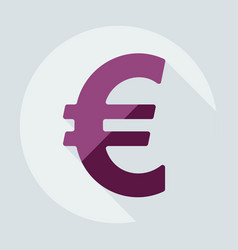 Flat modern design with shadow icons currency unit vector