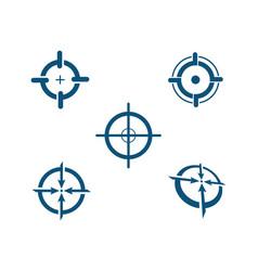 focus logo template icon vector image