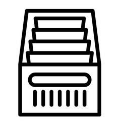 Folder drawer icon outline style vector
