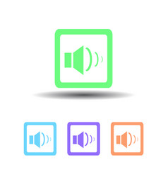 four sound icon button on white background vector image
