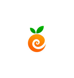 fruit letter e logo icon design vector image