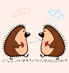 funny hedgehog with sword idea for print t-shirt vector image