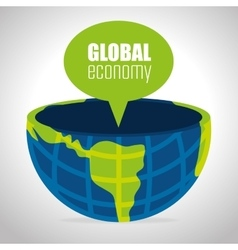 Global economy isolated icon vector