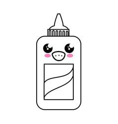 Glue bottle kawaii cartoon vector
