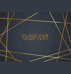 Gold collection of geometrical vector