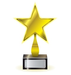 Golden star award vector