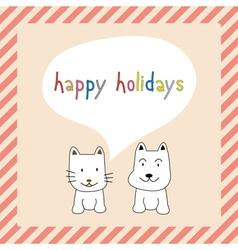 Happy holidays25 vector image