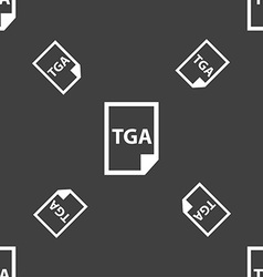Image File type Format TGA icon sign Seamless vector