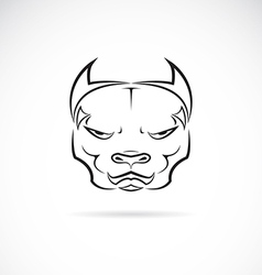 Image of a dog pitbull head vector