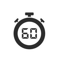 Isolated stopwatch icon with sixty seconds vector