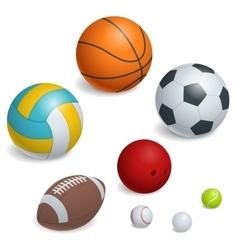 Isometric Sports Balls Set vector image