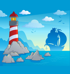 Lighthouse theme image 1 vector