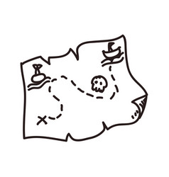 map treasure doodle vector image
