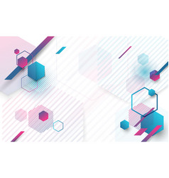 minimal abstract geometric background vector image