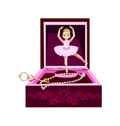 music box for jewelry with a ballerina vector image