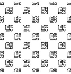 office set tool pattern seamless vector image