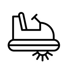 Pedal boat watercraft line style icon editable vector