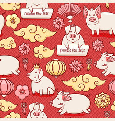 pig chinese new year symbol of 2019 vector image