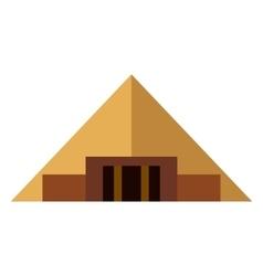 Pyramid flat icon vector